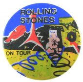 The Rolling Stones - 'On Tour' Prismatic Button Badge